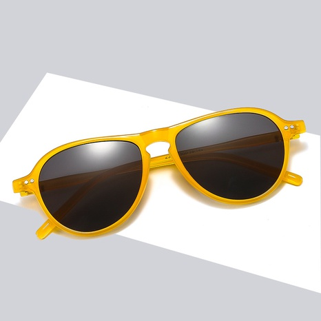 New Retro Colorful Round Frame Rice Nail Sunglasses Wholesale Nihaojewelry NHBA401934's discount tags