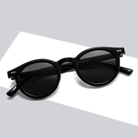 Korean new fashion colorful frame round flat sunglasses wholesale nihaojewelry NHBA401935's discount tags