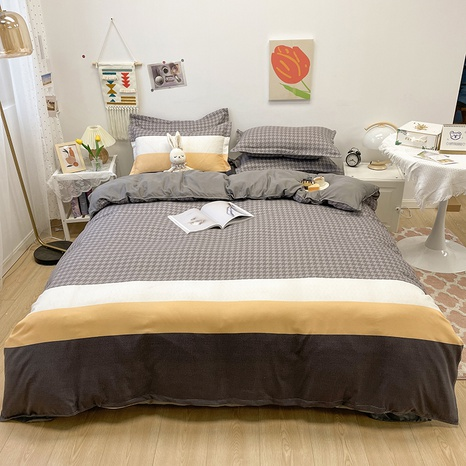 hit color stripe pattern printing bedding four-piece set wholesale nihaojewelry  NHGAD402086's discount tags