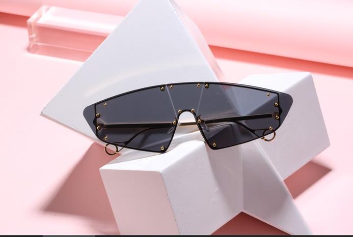 retro rivet one-piece cat-eye sunglasses wholesale Nihaojewelry NHZIH401827's discount tags