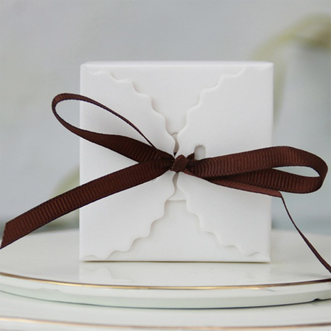 White baking candy packaging box 10 combinations with ribbon wholesale Nihaojewelry  NHNU403389's discount tags