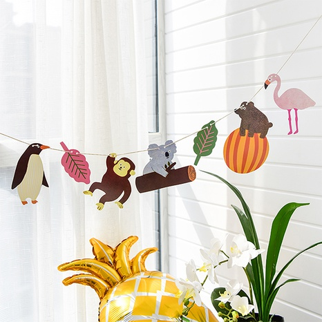 Cartoon creative animal forest party pull flag wholesale Nihaojewelry  NHNU403387's discount tags