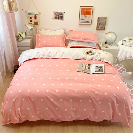 wholesale red heart printing bedding four-piece set nihaojewelry  NHGAD403091's discount tags