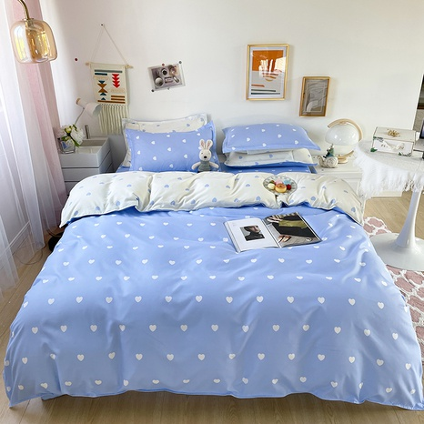 wholesale blue heart printing bedding four-piece set nihaojewelry  NHGAD403088's discount tags