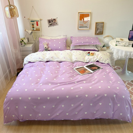 wholesale purple heart printing bedding four-piece set nihaojewelry  NHGAD403087's discount tags