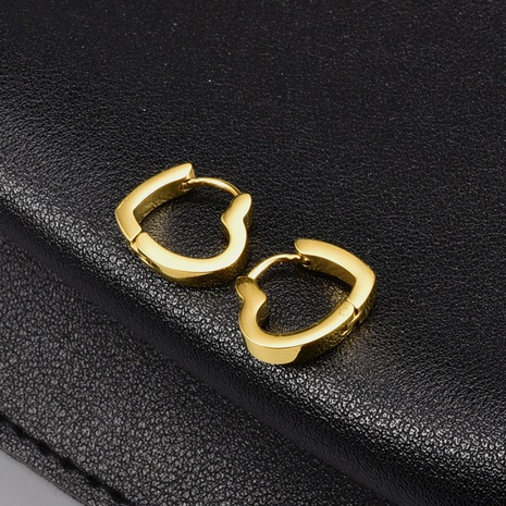 geometric square heart-shaped titanium steel gold plated earrings wholesale Nihaojewelry NHAB402326's discount tags