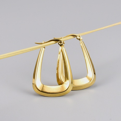 retro gold plated titanium steel hollow earrings wholesale Nihaojewelry NHAB402332's discount tags