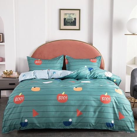 wholesale fruit letter stripe printing bedding four-piece set nihaojewelry  NHGAD403082's discount tags