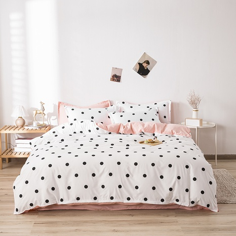 wholesale black polka dots printing bedding four-piece set nihaojewelry  NHGAD403080's discount tags