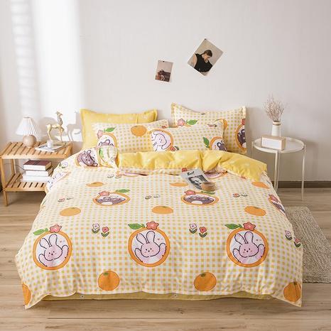 wholesale cartoon bear rabbit printing bedding four-piece set nihaojewelry  NHGAD403078's discount tags