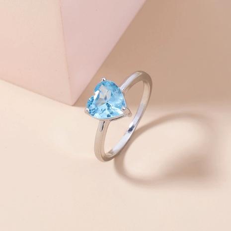 fashion lake water sapphire micro-inlaid zircon copper ring wholesale Nihaojewelry  NHDB402598's discount tags