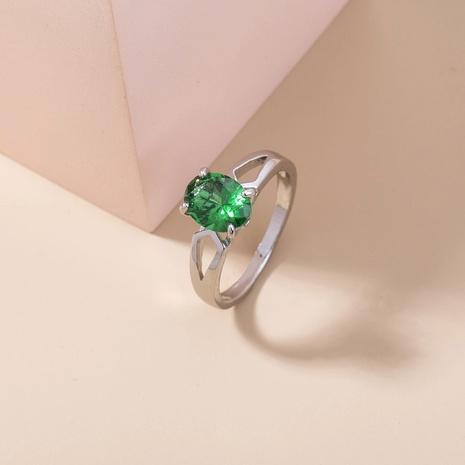 retro oval gemstone inlaid zircon copper ring wholesale Nihaojewelry  NHDB402605's discount tags