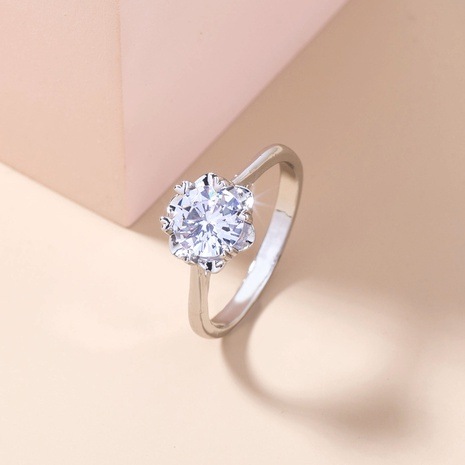 simple inlaid zircon copper fine ring wholesale Nihaojewelry  NHDB402608's discount tags