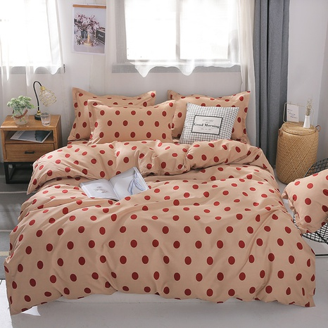 wholesale red polka dots printing bedding four-piece set nihaojewelry  NHGAD403072's discount tags