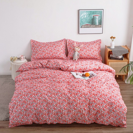 wholesale red floral printing bedding four-piece set nihaojewelry  NHGAD403068's discount tags