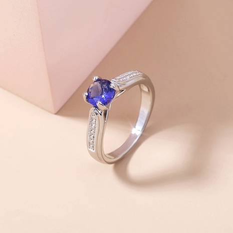 simple micro-inlaid zircon copper ring wholesale Nihaojewelry  NHDB402679's discount tags
