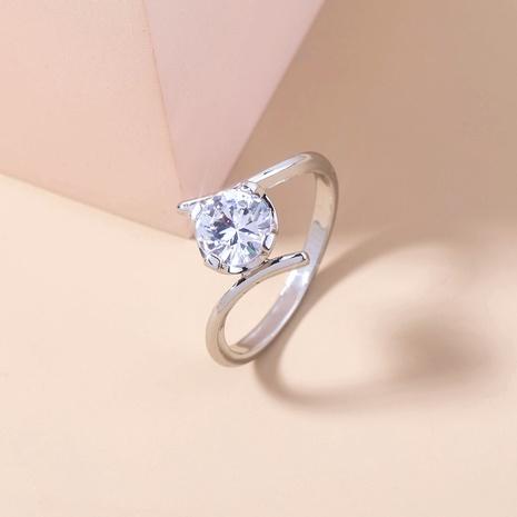 new fashion geometric inlaid zircon copper ring wholesale Nihaojewelry  NHDB402680's discount tags