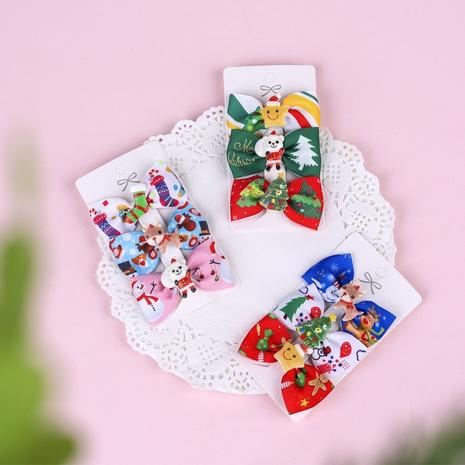 Ensemble de trois pièces en épingle à cheveux imprimé élan pour enfants de Noël en gros Nihaojewelry NHWO402940's discount tags