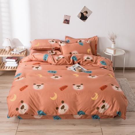 wholesale cartoon bear moon printing bedding four-piece set nihaojewelry  NHGAD403061's discount tags