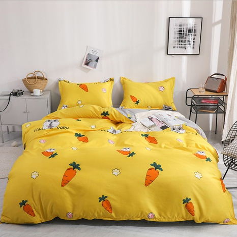 wholesale cartoon carrot printing bedding four-piece set nihaojewelry  NHGAD403062's discount tags