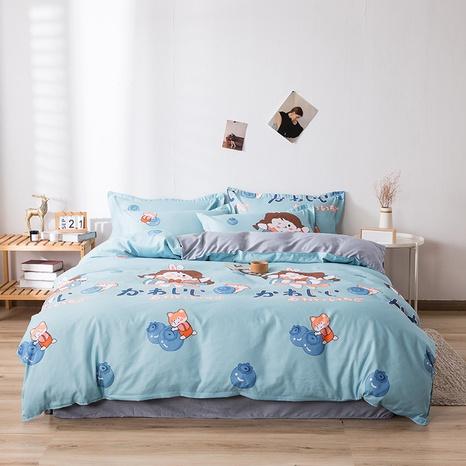 wholesale cartoon figure printing azure bedding four-piece set nihaojewelry  NHGAD403057's discount tags