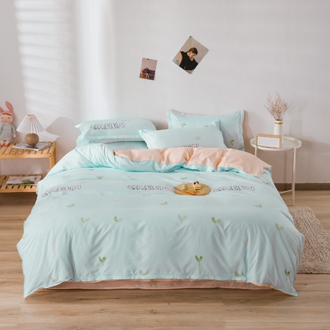 wholesale letter plant grass print bedding four-piece set nihaojewelry  NHGAD403051's discount tags