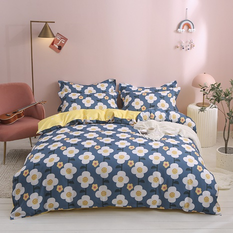 wholesale small white flower printing bedding four-piece set nihaojewelry  NHGAD403113's discount tags