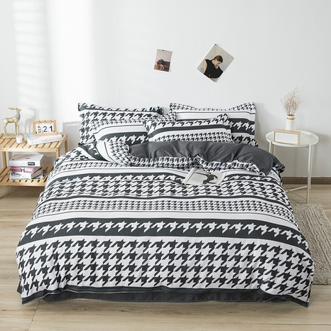 wholesale houndstooth printing bedding four-piece set nihaojewelry  NHGAD403111's discount tags