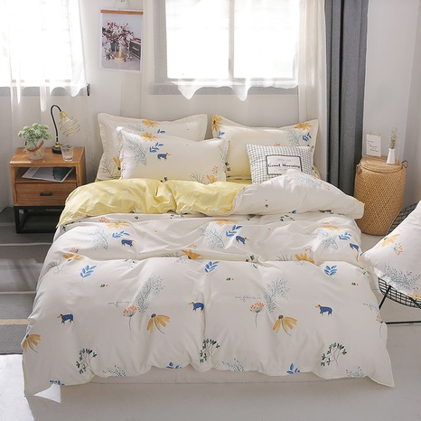 wholesale landscape painting printed bedding four-piece set nihaojewelry  NHGAD403522's discount tags