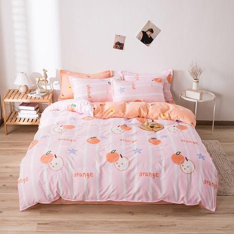 wholesale fruit orange stripe printed bedding four-piece set nihaojewelry  NHGAD403521's discount tags