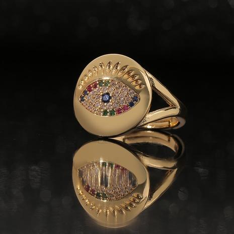 Anillo de cobre con incrustaciones de circonio con incrustaciones de color retro de moda al por mayor Nihaojewelry NHBU403189's discount tags