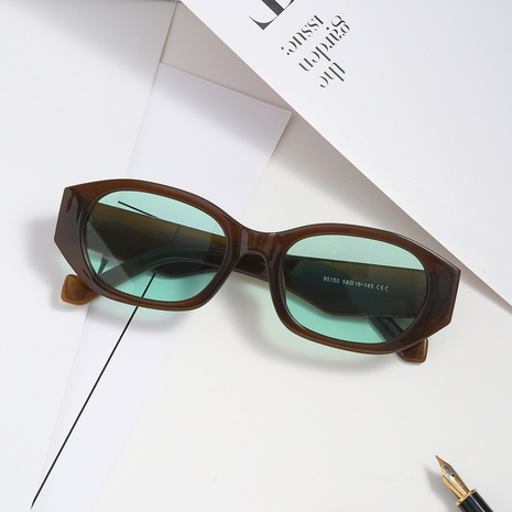 vintage oval small frame tortoiseshell sunglasses wholesale nihaojewelry NHXU403250's discount tags