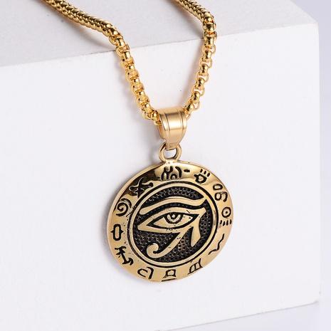 Retro Turkey Devil Eye 18K Gold Colgante de acero inoxidable al por mayor Nihaojewelry NHON403343's discount tags
