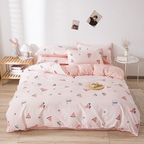 wholesale cartoon fruit watermelon printed bedding four-piece set nihaojewelry  NHGAD403516's discount tags