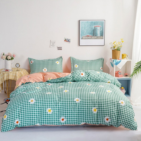 wholesale plaid flower printed bedding four-piece set nihaojewelry  NHGAD403511's discount tags