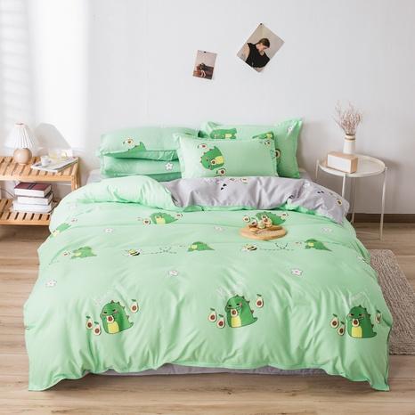 wholesale cartoon small dinosaur avocado printed bedding four-piece set nihaojewelry  NHGAD403510's discount tags