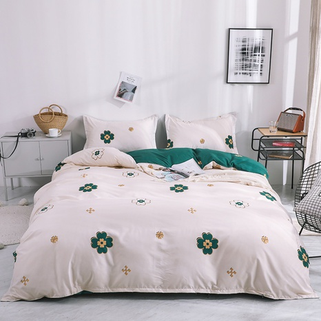 wholesale geometric flower printed bedding four-piece set nihaojewelry  NHGAD403506's discount tags
