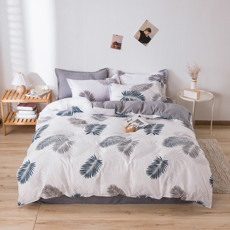 wholesale plant leaves printed bedding four-piece set nihaojewelry  NHGAD403502's discount tags