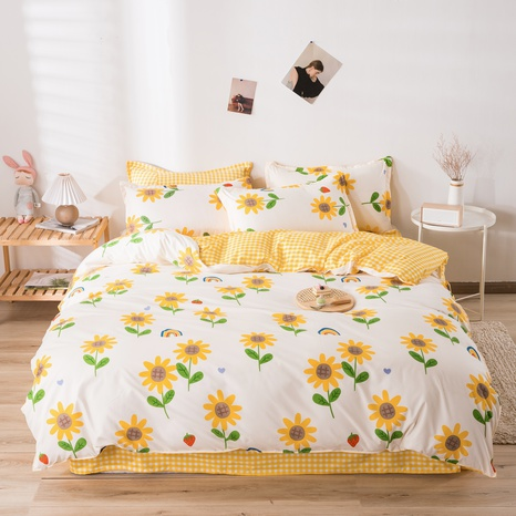 wholesale sun flower printed bedding four-piece set nihaojewelry  NHGAD403504's discount tags