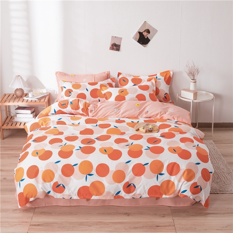 wholesale hit color orange printed bedding four-piece set nihaojewelry  NHGAD403505's discount tags