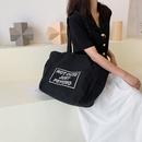 Canvas letters largecapacity zipper shoulder bag wholesale Nihaojewelry NHRU403528