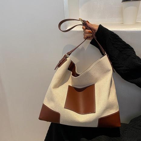 neue Art und Weisekontrastfarbe Großraum-Leinwand-Einkaufstasche Großhandel nihaojewelry NHGN403697's discount tags