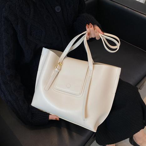 Retro Mode Schulter einfarbig große Kapazität Eimer Einkaufstasche Großhandel nihaojewelry NHGN403700's discount tags