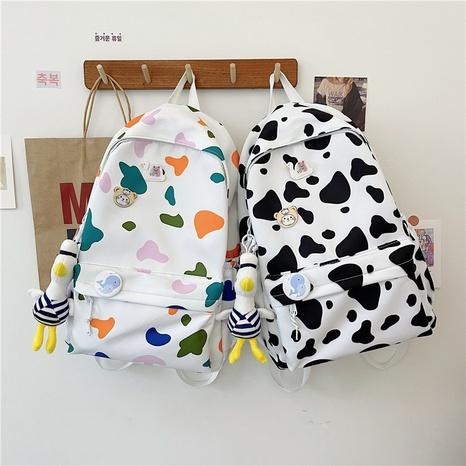 Korean Fashion Nylon Print Kontrastfarbe Rucksack Großhandel Nihaojewelry NHTW403840's discount tags