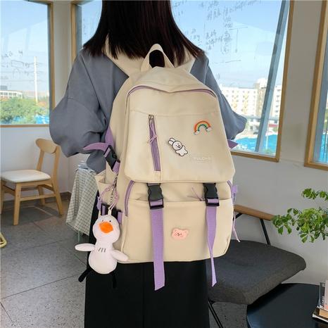 neue koreanische Kontrastfarbe Rucksack mit großer Kapazität Großhandel Nihaojewelry NHTW403846's discount tags