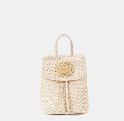 New style straw woven large capacity bucket bag wholesale Nihaojewelry  NHGO403438's discount tags