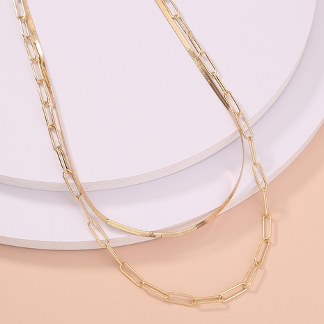 wholesale jewelry simple lattice chain multi-layer necklace nihaojewelry  NHDB404029's discount tags