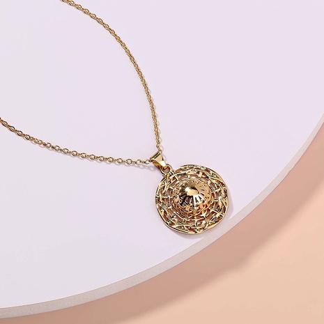 wholesale jewelry metal straw hat shape pendant necklace nihaojewelry  NHDB404031's discount tags