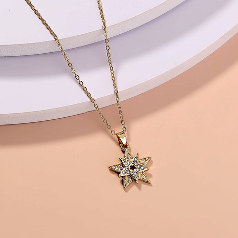 wholesale jewelry five-pointed star diamond-studded pendant necklace nihaojewelry  NHDB404033's discount tags