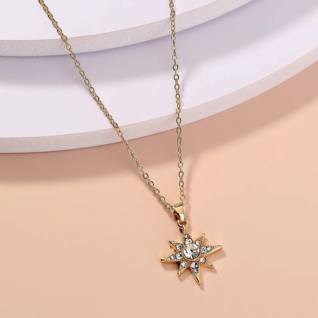 wholesale jewelry star diamond pendant necklace nihaojewelry  NHDB404035's discount tags
